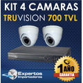 Cctv Kit De  4 Camaras De Seguridad Truvision Full Hd !