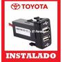 Usb Switch Doble Boton Tablero Toyota Cargador Instalado !!!