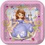Princesa Sofia Disney 8 Platos Grandes / Fiesta Importados