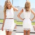 Vestido De Encaje Guipiur Blanco