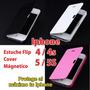 Estuche Case Flip Cover Iphone 4 4s 5 5s + Mica + Stylus