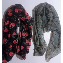 Bufandas Pañoletas De Chifón Vintage