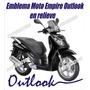 Calcomania Emblema Moto Empire Benelli Outlook En Relieve