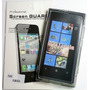 Forro Gel + Lámina Protectora Para Nokia Lumia 800