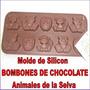 Molde Silicon Bombones Chocolate Animal Granja Selva