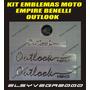 Kit Emblemas Para Moto Empire Benelli Outlook