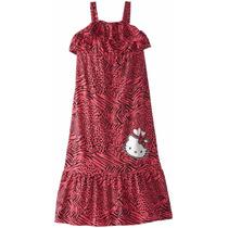 Bello Vestido Hello Kity En Animal Print, Talla 10.