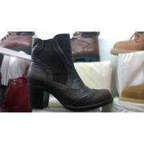 Botas Mujer Cuero, Calzado Zapatos Fashion Texano Piel