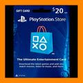 Play Station Network Card $ 20 Psn Store U. S. A (oferta )