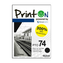 Cartucho Printon Compatible Con Hp#74, Neg Cb335xl Pto74xl