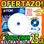 Wow 2 Discos Virgen Bluray 25gb Inkjet Printable 6x En Sobre