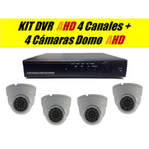Kit 4 Domo Ahd Mas Dvr 4 Canales Ahd H.264