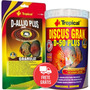 Kit Ração Tropical D-allio 450g + D-50 Discus Gran Plus 440g
