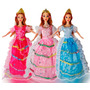 Barbies Bellas Muñecas Princesas Vestido Corona Y Zapatos