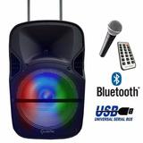 Bafle Bocina 12 Amplificada Bluetooth Recargable Usb Micro
