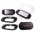 Kit Protector Ps Vita 5 En 1 - Forro+carcasa+protector Y Mas
