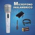 Microfono Inalambrico + Cable Para Karaoke En Casa Itelsiste