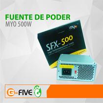 Fuente De Poder Myo 500w Case Slim 20+4 Pin Sata 12v
