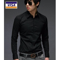 Camisas Entalladas 100% Algodon, Slim Fit, Moda Coreana 2016