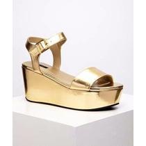 Calzado Sandalias Plataforma Para Damas Doradas Forever 21