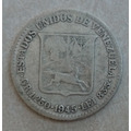 Bonita Moneda Venezolana Medio Del Año 1945.