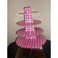 Porta Cupcakes,soporte 4 Pisos,lunares, Colores $  180