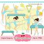 Kit Imprimible Gimnasia Artistica 4 Imagenes Clipart