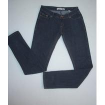 Jeans Pitillo Fes Azul Oscuro Talla 38 Elasticado.