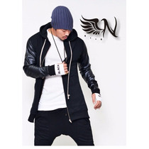 Casaca-chaqueta Extended Full Zipp Urban Arce Moda Coreana