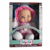 Bella Muñeca Baby First Bebe Feliz Mobil Ilumina Musical