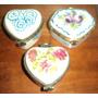 Muy Preciosa Coleccion De Cofre De Fina Porcelana / Hermosa!