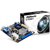 Tarjeta Madre Asrock C70m1 + Amd Dual Core 2 Ddr3 Oferta