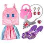 Juego Set Kit D Niñas Princesa Peluquería Peinadora Vestido