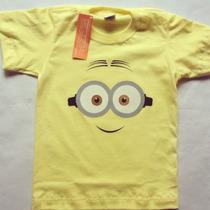 Franelas Camisetas Minions Niño Estampado Serigrafía