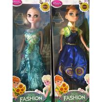 Muñecas Elsa Y Anna Frozen 30 Cm