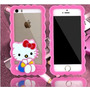 Forro Bumper Goma Iphone 5 5s Hello Kitty Mickey