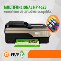 Multifuncional Hp 4625 Con Sistema De Cartuchos Recargable