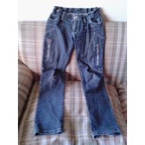 Jeans Pitillo Elasticado Bolsillos 6 Bolsillos Talla 38