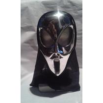 Mascara Alien Plateado Para Disfraces