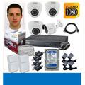 Cctv Truvision Kit Dvr 8 + 4 Camaras De Seguridad Disco 1tb