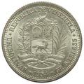 Moneda De Venezuela Un Bolívar De Plata De 1954  Ef+