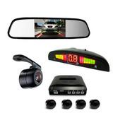 Kit Sensor De Estacionamento Câmera De Ré Espelho Retrovisor