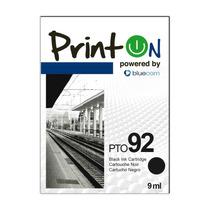 Printon Cartucho Compatible Con Hp #92, Negro C9362wl, Pto92