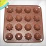 Molde Silicon Bombones Chocolate 16 Piezas 18x18x2cm