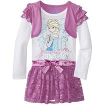 Bello Vestido Disney De Frozen Talla 5