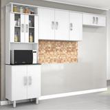 Cozinha Compacta 3 Peças 9 Portas Suíça Poliman Branco