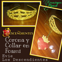 Combo Collar Y Corona Descendientes En Foami