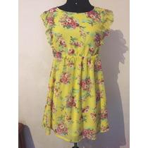 Vestido Floreado - Moda Asiática, Comprado En Japón