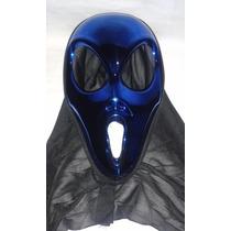 Mascara Alien Azul Metalico Para Disfraces