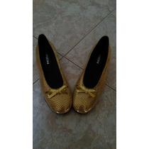 Zapatos Cerrados Dorados, Talla 37